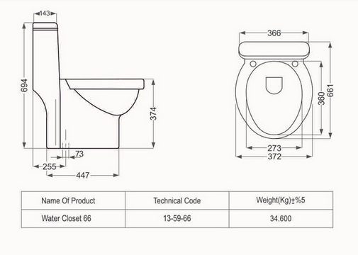 توالت فرنگی مدل تانیا فروشگاه آنلاین کاشی و سرامیک و کالایی بهداشتی ساختمانی یزدانی