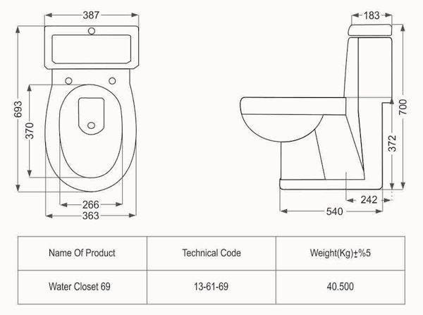 توالت فرنگی مدل رومینا فروشگاه آنلاین کاشی و سرامیک و کالایی بهداشتی ساختمانی یزدانی