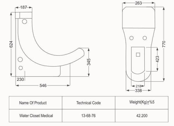 توالت فرنگی مدل سیلویا طبی فروشگاه آنلاین کاشی و سرامیک و کالایی بهداشتی ساختمانی یزدانی