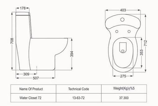 توالت فرنگی مدل پارمیدا فروشگاه آنلاین کاشی و سرامیک و کالایی بهداشتی ساختمانی یزدانی