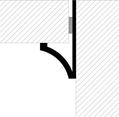 پروباند مدل پروآرک پروفیل بین سطوح وکنج فروشگاه یزدانی تایل