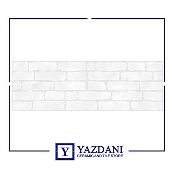 خرید کاشی آرژنا مدل قابوس سفید سایز 100*30 از فروشگاه یزدانی تایل